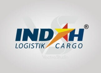 Free Download Indah Logistik Cargo Logo Vector
