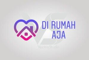 Download Di Rumah Aja Logo Vector