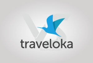 Traveloka Logo Vector Vertical